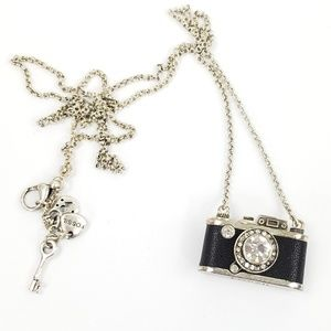 Fossil Camera Necklace Long Pendant